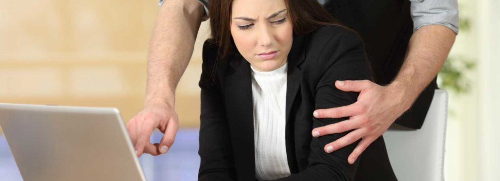 Image showing woman facing Sexual Harassment in the Workplace