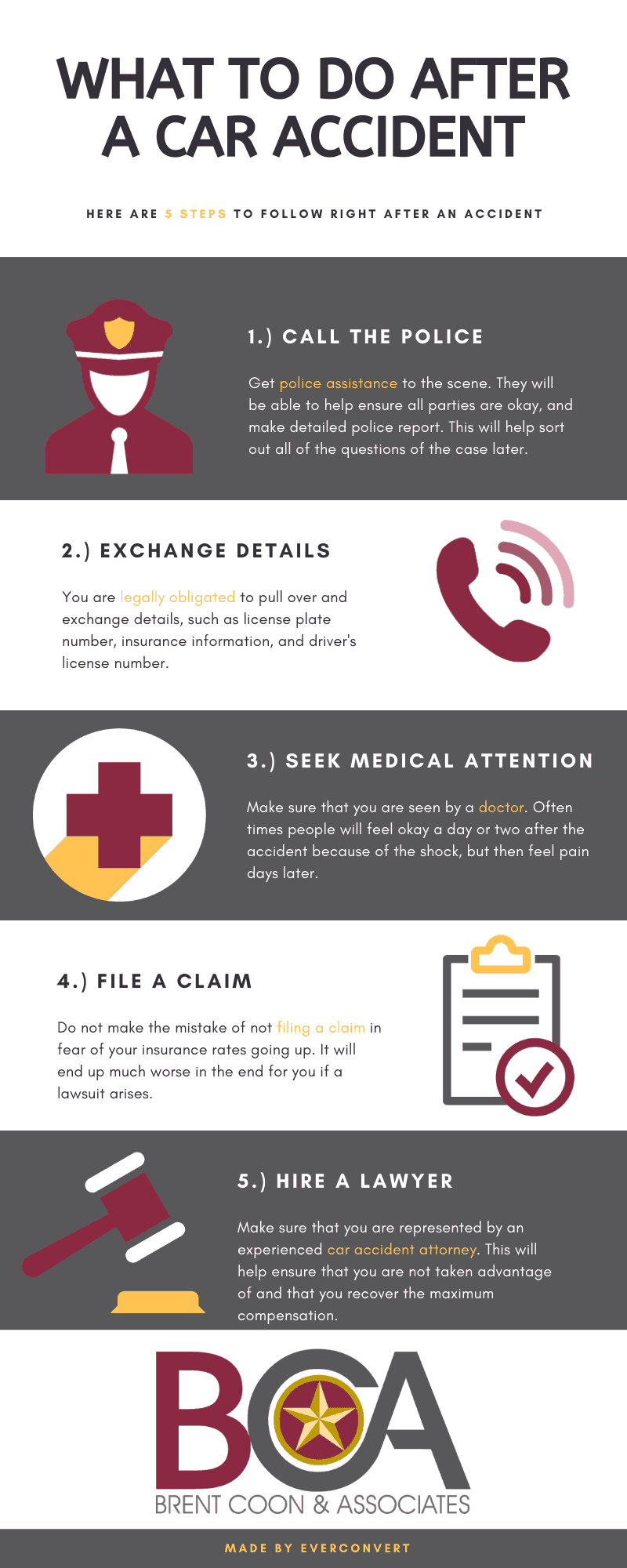 What To Do After A Car Accident In Texas Infographic