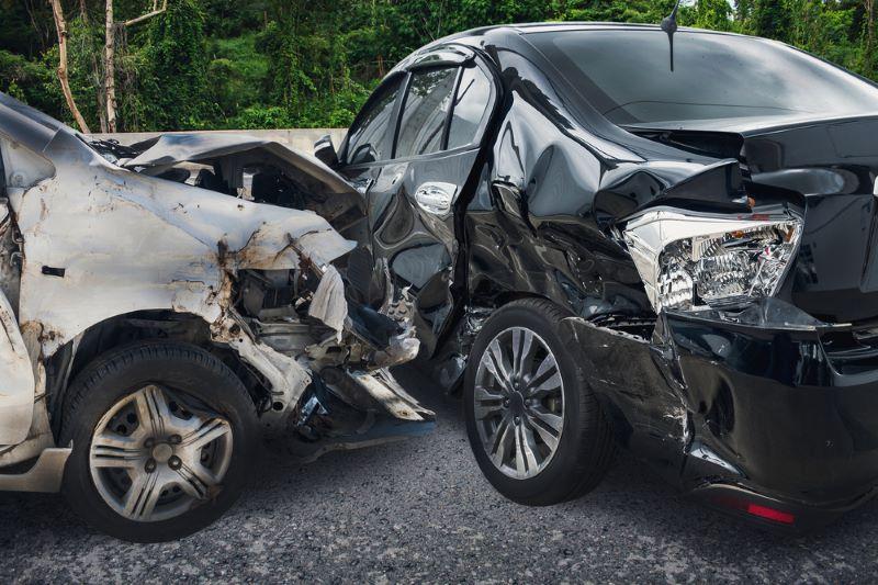 Two-Vehicle Crash on Highway 87
