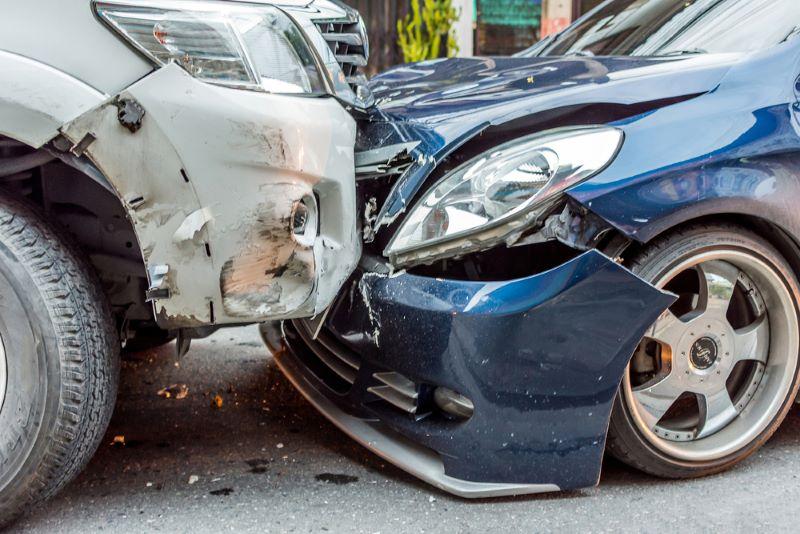 Three-Vehicle Crash on Toll 49