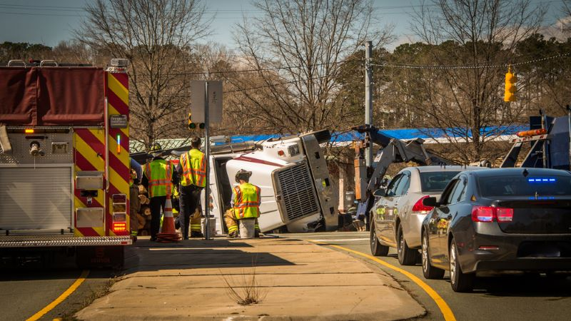 Tractor-Trailer Crash on I-24