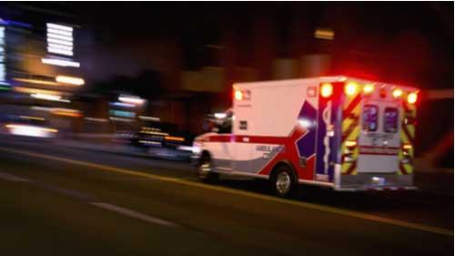 Ambulance, concept of Texas motorcyclist killed